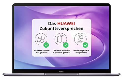HUAWEI MateBook 33,02 cm (13 Zoll 2K-FullView-Display) Notebook (Intel Core i7-8565U, 8GB RAM, 512GB SSD, Windows 10 Home) grau