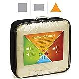 Purovi® Toldo Triangular | Varias Dimensiones | Protección UV | PES Impermeable | 4 x 4 x 4 m