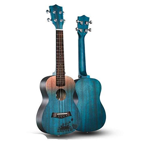KEPOHK 23-Zoll-Ukulele 11 Modle Mahagoni-Ukulele Hawaiianische kleine Gitarre Viersaitige Gitarre mit Ukulelentasche und Pick 23-Zoll-ESets