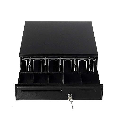 ZHUYUE-Office-Cash-Speicher for Business Cash Drawer Safe 5 Bill 5 Münztableau for POS-Drucker Shop Geldsperre Storage (Farbe: Schwarz, Größe: 405x420x100mm) (Color : Black, Size : 405x420x100mm)