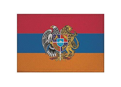 U24 Aufnäher Armenien mit Wappen Fahne Flagge Aufbügler Patch 9 x 6 cm