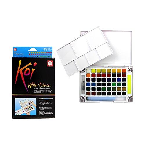 Sakura Pocket Set Koi Watercolor Kit, 48 Color Count