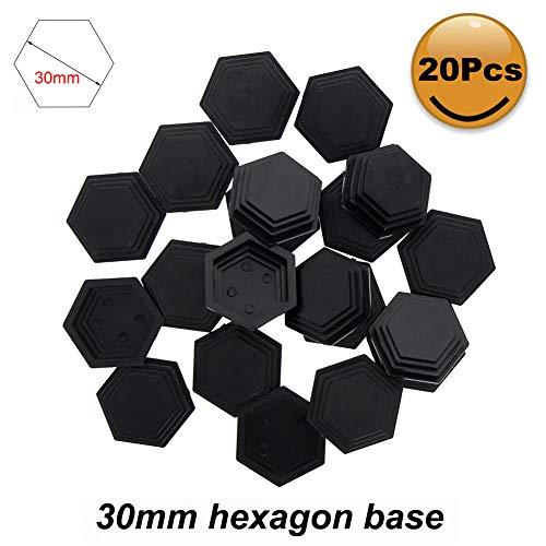 Evemodel 20Stk. Kunststoff 30mm Hexagon Base Model Bases für Kriegsspiele MB26-20-EU
