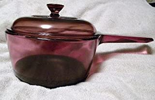 Corning Visions Cranberry 1.5L Saucepan Teflon Coated with Lid