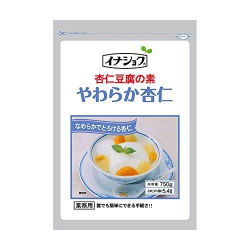 【常温】 伊那食品 やわらか杏仁 杏仁豆腐の素 750g 業務用 杏仁豆腐