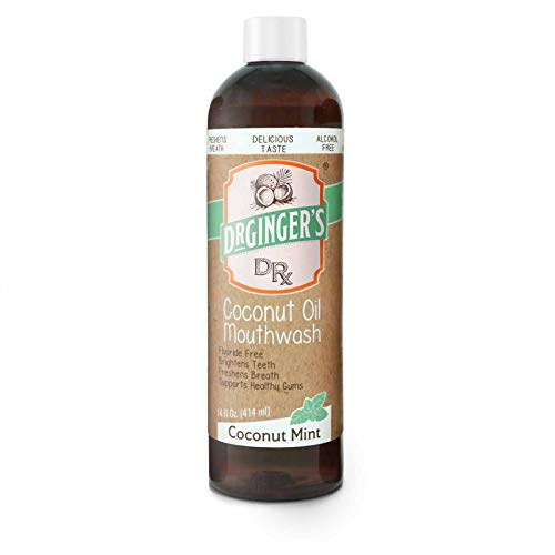 Dr. Ginger's Coconut Oil Pulling Mouthwash, 14 oz, 1 Count - Coconut Mint Flavor