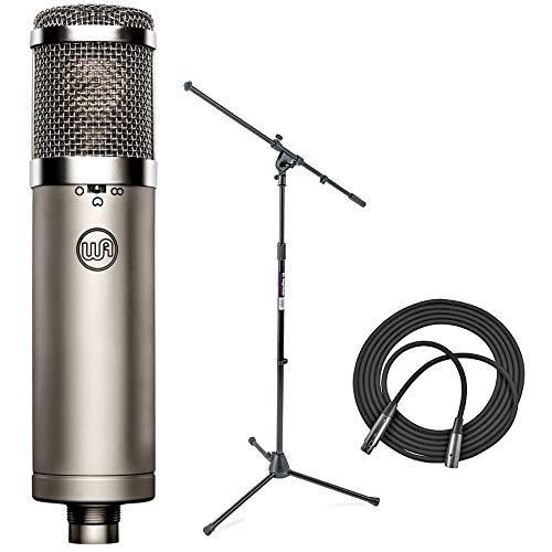 Warm Audio WA-47jr FET Condenser Microphone + Euro Boom Mic Stand + XLR Mic Cable