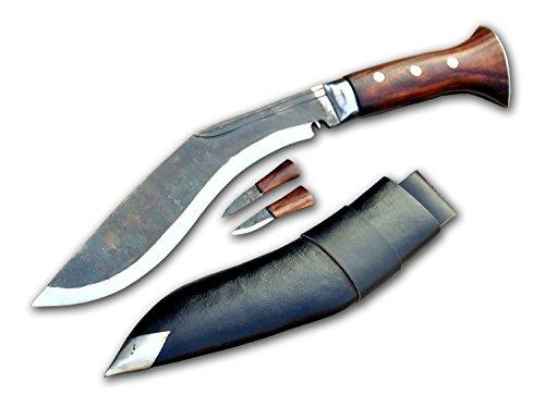 Original Gurkha Kukri Messer - 25 cm Schwarze Klinge voller Zapfen panawal sirupate Dorf Kukri - handgefertigt von GK & CO Kukri Haus in Nepal.