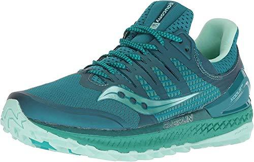 Saucony Women's Xodus ISO 3 Sneaker, green/aqua, 10.5 M US