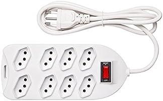 Protetor Eletronico Intelbras com 8 tomadas EPE 1008+ Branco