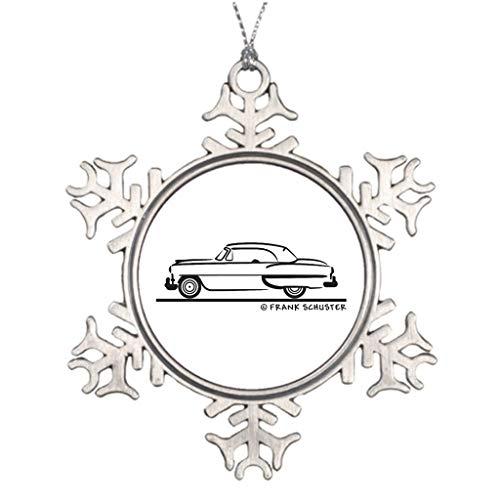 Cukudy ideeën voor het verfraaien van kerstbomen 1953 Chevrolet Convertible Bel Air 1953 bruiloft Kerstmis Sneeuwvlok Ornament