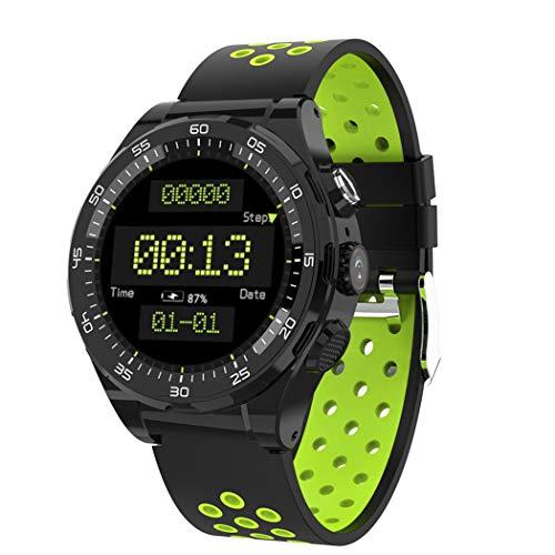 BTPDIAN Netcom Android Smart Watch Deportes al Aire Libre GPS Pasos en Varios Idiomas Frecuencia cardíaca Impermeable Moda (Color : Green)