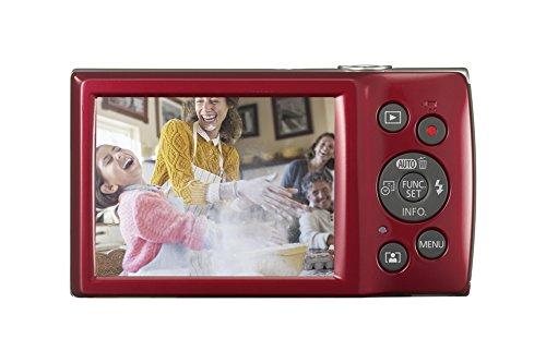 Canon IXUS 185 Digitalkamera (20 MP, DIGIC 4+, 8x optischer Zoom, 6,8cm (2,7 Zoll) LCD, Display, Smart Auto, HD Movies, USB, 720p) Kamera digital, rot