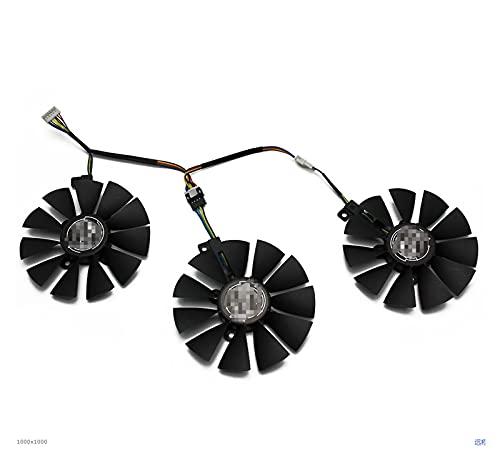 XUNLAN Durable 87mm FDC10U12S9-C FDC10H12S9-C Ajuste para ASUS GTX 980 TI R9 390X 390 GTX 1060 1070 1080 TI RX 480 RX480 Tarjeta de gráficos Ventilador de enfriamiento Wearable (Blade Color : 2pc)