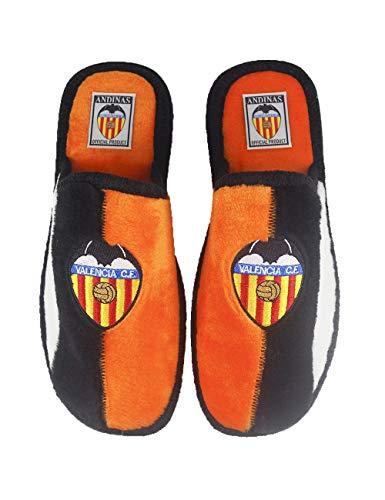 Zapatillas de casa de equipos de fútbol con licencia oficial Valencia C.F. - Color - Naranja, Talla - 42