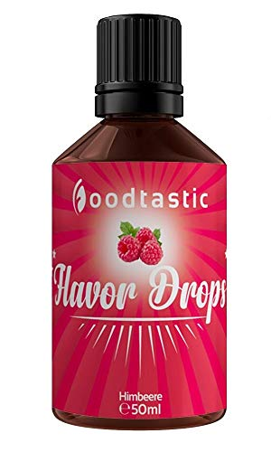 Foodtastic Flavor Drops Himbeere 50ml | Flavdrops Aroma Tropfen | kalorienfrei Süßen I ohne Zucker | Lebensmittelaroma Flavour Drops Flave Drops Geschmackstropfen