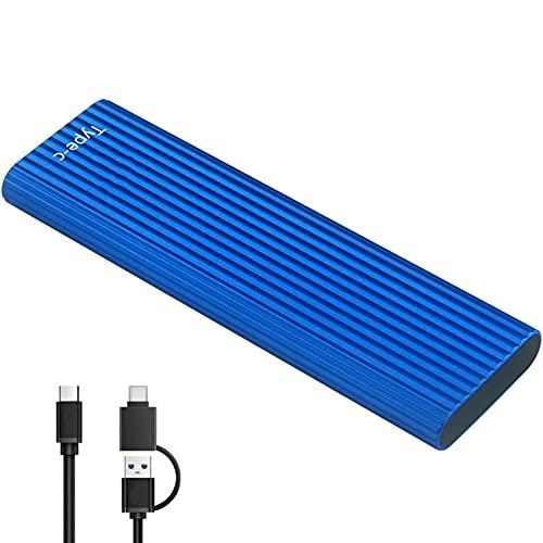 VCXZ Disco Duro Externo, Unidad de Disco Duro SSD Portátil Delgado Disco Duro Externo USB 3.1 1TB 2TB Compatible con PC, Laptop y Mac,Azul,2TB