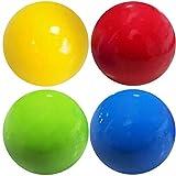 WLLL Bola de Pared Adhesiva Fluorescente, Bolas para aliviar el estrés Que se Pueden Pegar en el Techo o la Pared, Juguetes de descompresión para Adultos y niños (4 Pcs) (6.5cm)