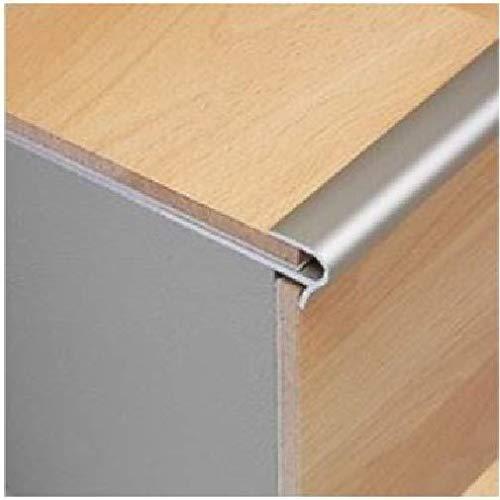 Alu Dural Silbereffekt verschraubte Nosing Profil Treppenkit 0,9 M