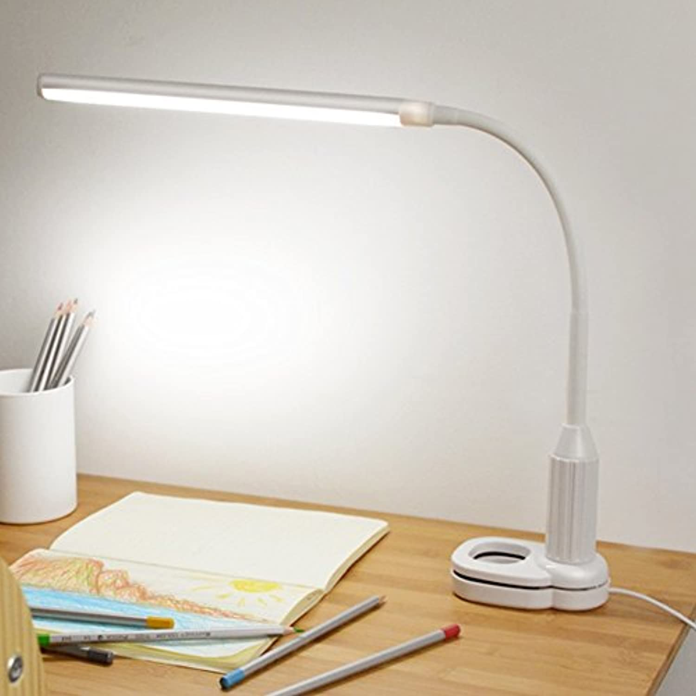 DGEG Schreibtischlampe Touch LED Dimmen USB Kinder Bett Studie Study Folder Lampe Studie