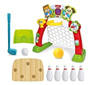 Winfun 4-In-1 Sports Centre | Indoor Sports Activity Centre Perfect For Basketball And Football | Au...