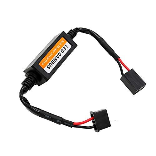 DFYYQ 2pcs / Set H13 del Coche LED Faro decodificador luz de Niebla DRL No Error Resistor de la Carga sin Parpadeo Advertencia Adaptador de los Cables de Alambre cancelador