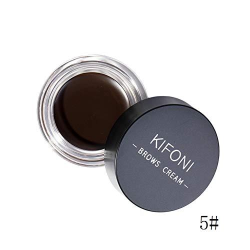 Crème de sourcil - Imperméable Eyebrow Gel - Noir Brun série - avec brosse