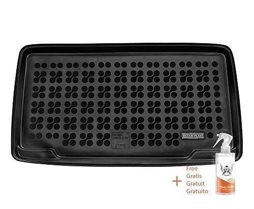 Rezaw Kofferraummatte aus Gummi, passend für Mini Cooper S III, 5 Türen (ab 2014) + Kunststoffreiniger (Geschenk)
