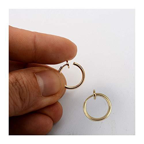 LUOSI 2pc / Pack Clip Retráctil De Acero Inoxidable En Pendientes Sin Perforaciones para Mujeres Niñas Sin Orejas De Orejas De Orejas con Orejas Clips (Metal Color : Gold 10mm)