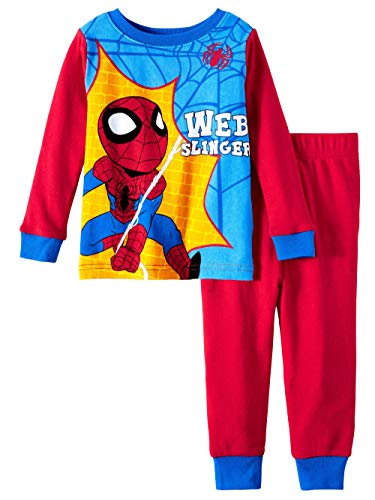 AME Marvel Spiderman Pajamas Web Slinger 2 Piece Sleep Set (2T), Red