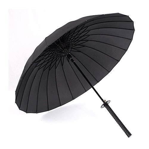 HYRL Samurai Sword Umbrella Japanische Ninja-Artige Regenschirme Mit Langem Griff Rain Men Large Windproof 24 Ribs Umbrella