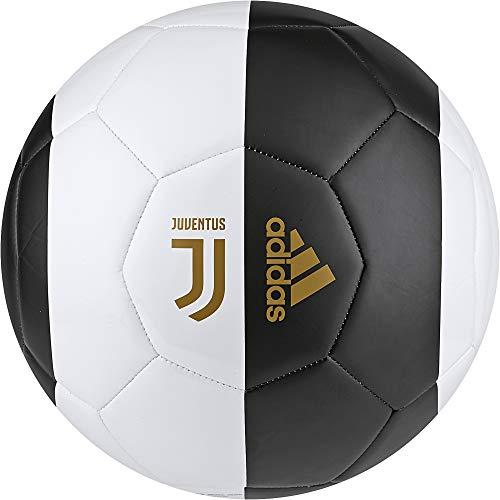 Adidas JUVE CPT - Pallone da calcio, da uomo, bianco (bianco/nero/orfuo), 5