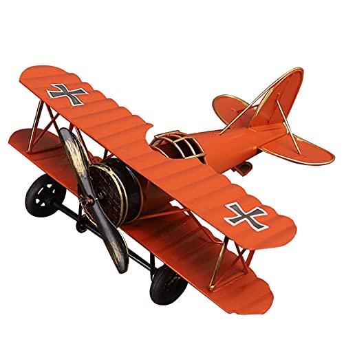 Dheera Ornamentos de metal em modelo aeronáutico retrô para decoração de avião, ferro forjado, artesanal, lembranças, móveis para decoração de casa, armário de vinhos, varanda, 21 x 17 x 8 cm