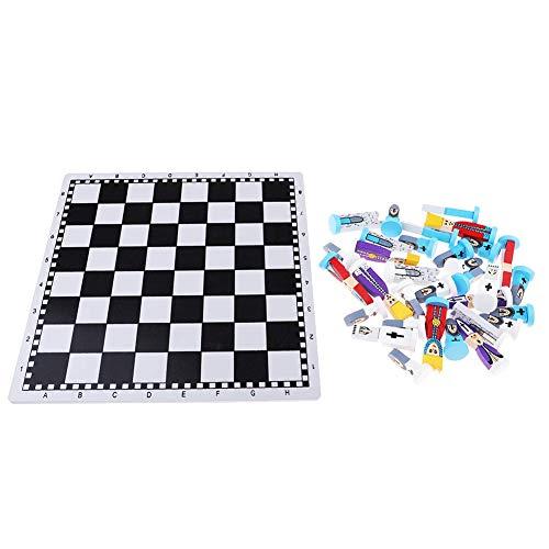 NanXi Pie pequeño Caballo de ajedrez del Juego de los Viajes con Piezas de ajedrez de caballería de ajedrez de Madera años de ajedrez Juego de ajedrez para niños