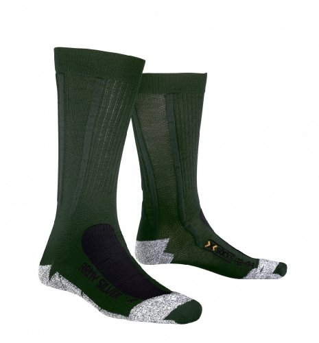 X-Socks Army Silver Military Chaussettes militaires avec 13 points de protection Vert/anthracite Y1 sage green/anthracite 39/41