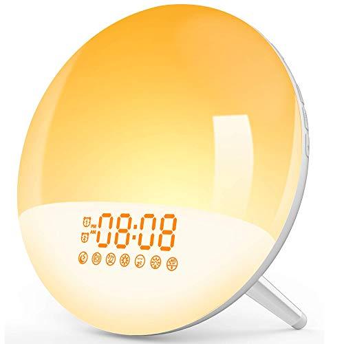 Wake Up Light Sunrise Alarm Clock for Kids,LBell Night Light/Sunrise Simulatio,Bedroom, Sleep Aid, Dual Alarms, FM Radio, Snooze, Daylight, 7 Natural Sounds for Kids Bedrooms/Night Light Ambiance