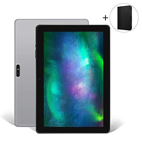 Tablet 10 Zoll Android 9.0 iProda Tablet-PC, Tab mit 3GB RAM 64GB ROM, Erweiterte Kapazität 128GB, Quad Core Processor, Ultra Dünn Metallschale, 1280 * 800 HD, HDMI, WiFi, GPS, 5000mAh