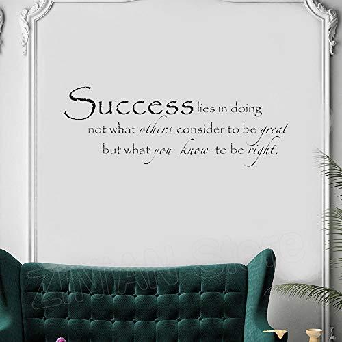 Preisvergleich Produktbild yiyiyaya Motivation Bedeutung Aufkleber Home Quote Wohnzimmer Dekoration Vinyl Zitate Wandaufkleber für Office Inspire Decals schwarz 117x42 cm
