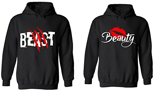 Beast & Beauty - Matching Couple Hoodies - His and Her Sweaters
