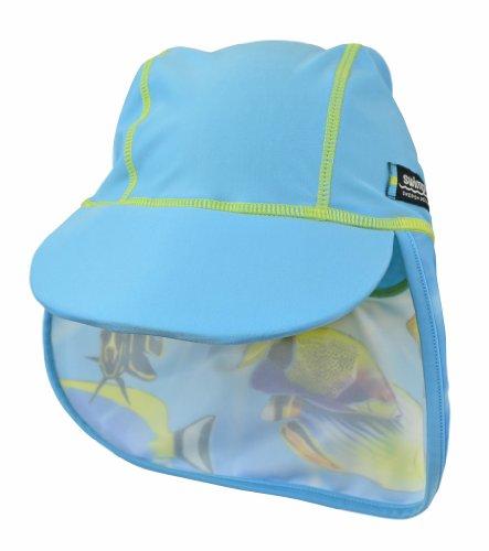 Swimpy Mädchen UV Schwimm Mütze, Fisch Turkis, 4-8 Jahr