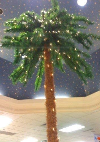 7 Foot Industry No. 1 Lighted Artificial Holiday Indianapolis Mall Palm Indoo 300 - Tree Lights