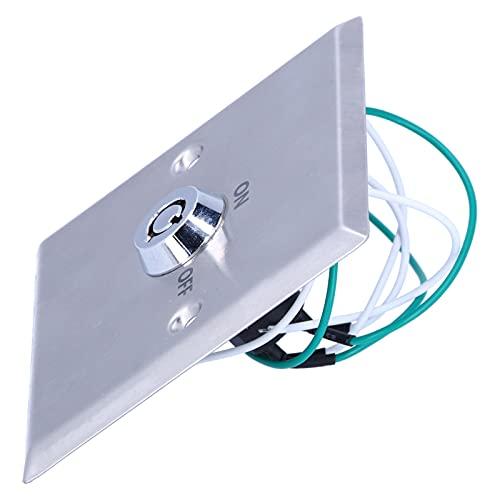 Eosnow Interruptor de Llave de Salida, Aspecto Atractivo Instalación Sencilla Interruptor de Llave Universal Interruptor de Llave Bloqueo de Encendido/Apagado Interruptor de Salida para Puerta
