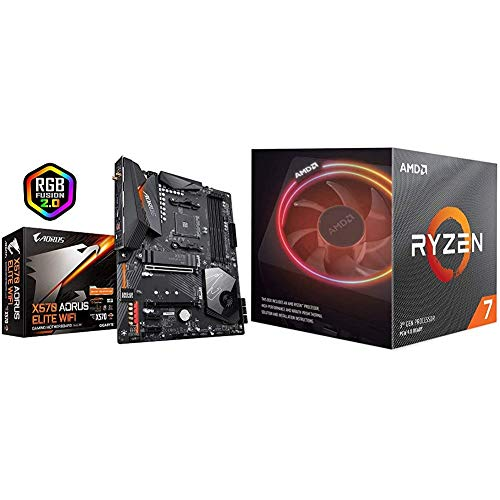 Gigabyte X570 AORUS Elite WiFi (Front USB Type-C/RGB Fusion 2.0/M.2 Thermal Guard/Gaming...
