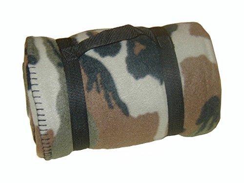 AB US Army Style Fleecedecke für Camping oder Picknick (200 x 140 cm/Woodland)