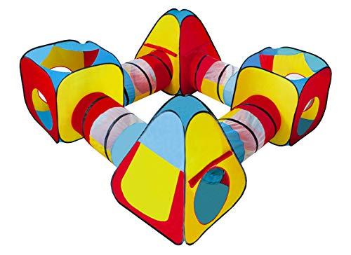 MT MALATEC Kinder Spielzelt 250x250x90cm Würfelzelt 8 Teile PopUp 10952