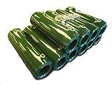 TUSKER INDUSTRIAL SAFETY Cortina de PVC para soldadura, color verde, paquete para cubrir 2 m de ancho, 10 tiras, caída de 1,83 m, ojales y completo con anillas divididas