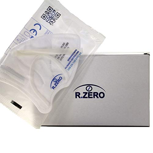 R.ZERO Mascherine FFP2 MADE IN ITALY/ 25 pezzi con marchio CE protettive/Capacità filtrante 94%/5 strati di tessuto