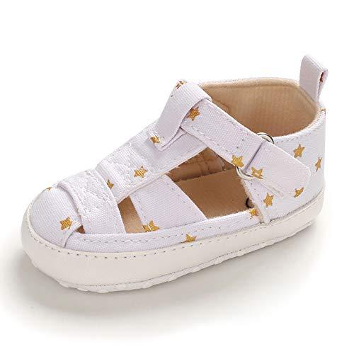 Ortego Baby Schuhe Mädchen Junge Lauflernschuhe Babyschuhe Weiche Sohle Weiß 12-18 Monate