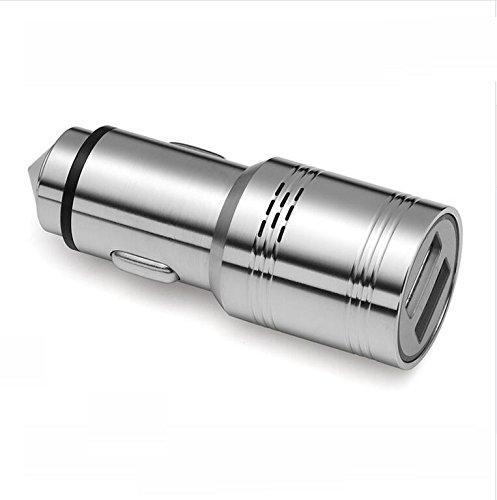 Guli Edelstahl Kohlenmonoxid Detektor 2,4 A KFZ Ladegerät mit 2 Anschlüssen Sicherheit Notausstieg, Multifunktions-Auto Kohlenmonoxid Detektor