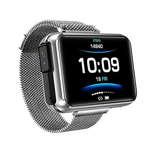 ZBY T91 TWS Wireless Bluetooth Headset Smart Watch para Hombres 1.4 Pulgadas Big DIY Pantalla Bluetooth Llamada Smartwatch,C